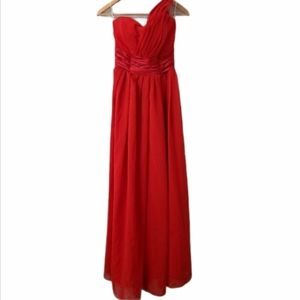 Red Tulle Bridesmaid Dress